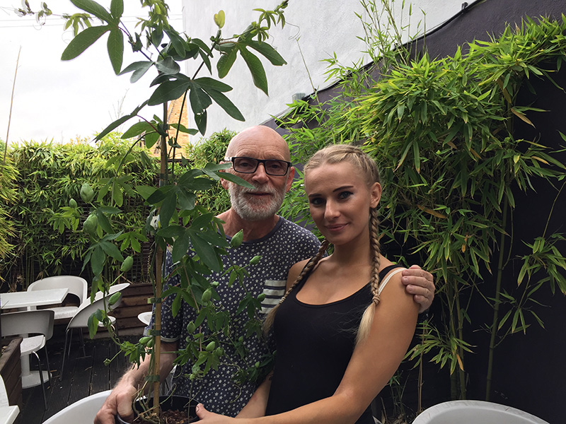 Passiflora 'Snow Queen' Riverside hardy hybrid Natalia Walaszek